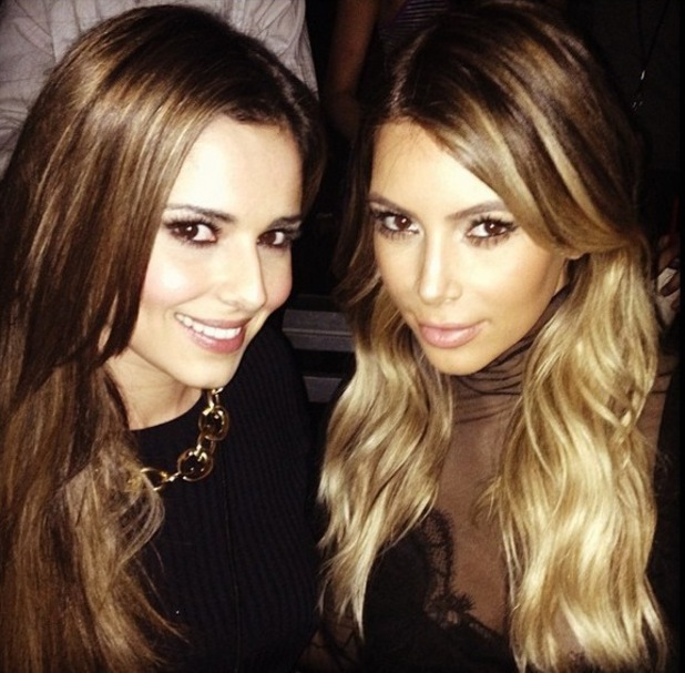 Cheryl Cole and Kim Kardashian watch Kanye West together