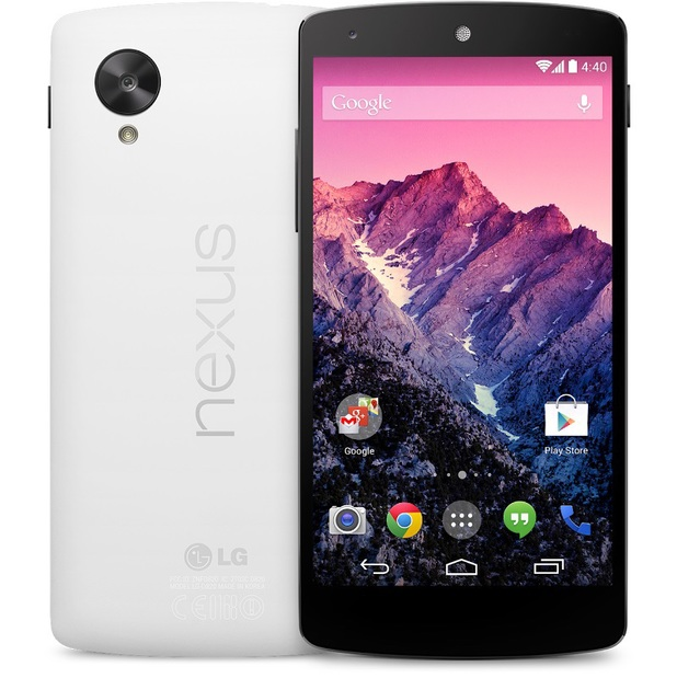 Google's Nexus 5 smartphone in white
