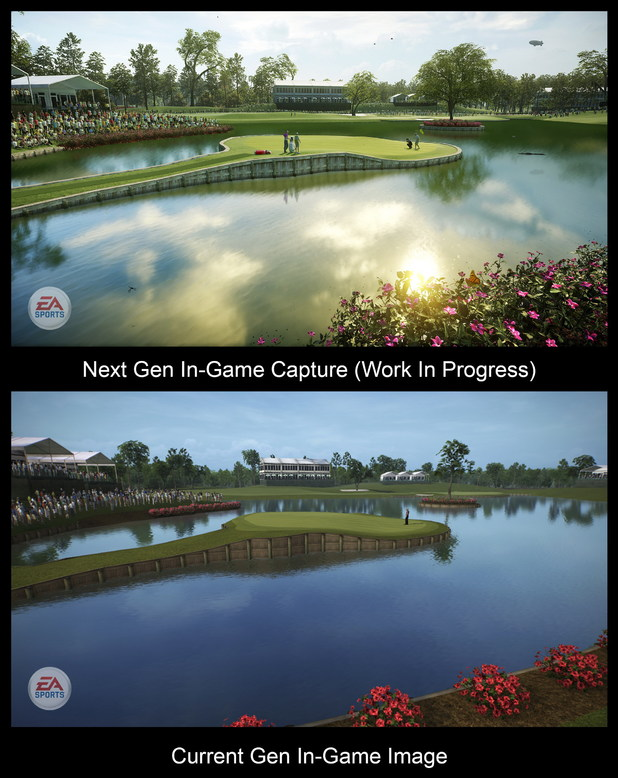 EA's current-gen golf title versus next-gen title