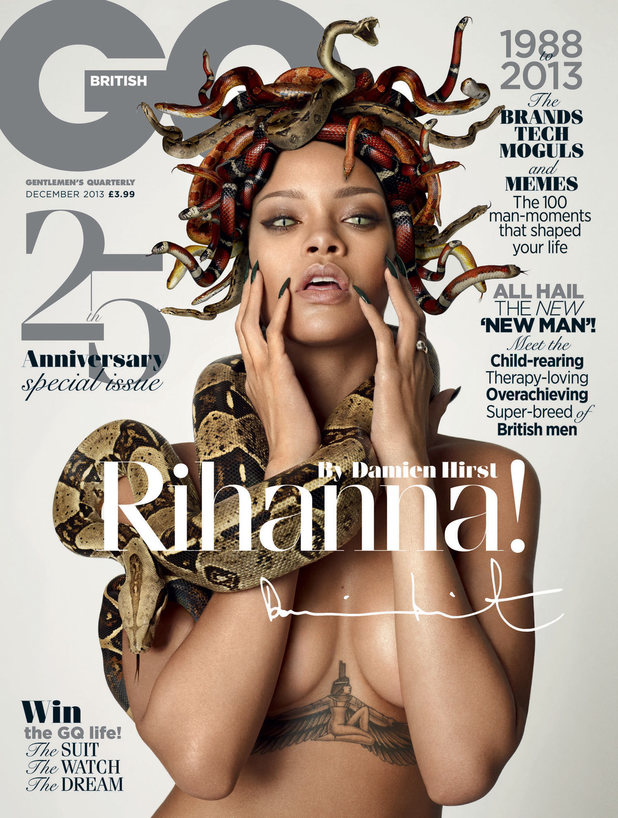 Rihanna by Damien Hirst for GQ Magazine