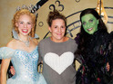 The X Factor hopeful goes backstage to meet the cast of the hit West End musical.