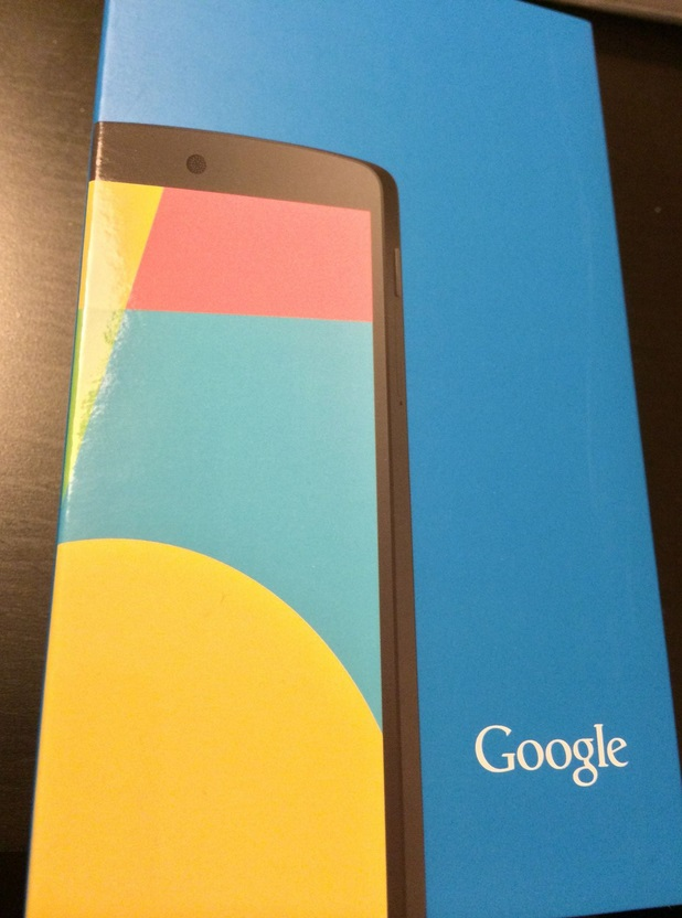 Boxed Nexus 5 shown in leaked photo