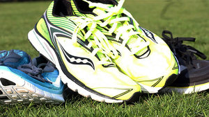 Digital Spy looks at the technology behind running shoes and tries out some running gadgets.