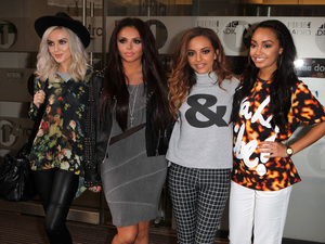 Perrie Edwards, Jesy Nelson, Jade Thirwall and Leigh-Anne Pinnock of Little Mix at BBC Radio 1 Studios