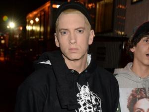 Eminem backstage at the YouTube Music awards 2013
