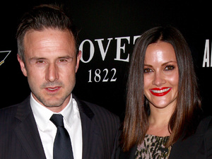 David Arquette and Christina McLarty at the Hollywood Domino pre-Oscar Gala and Tournament held at the Sunset Tower Hotel