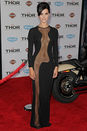 Jaimie Alexander Premiere of Marvel's 'Thor: The Dark World' at the El Capitan Theatre