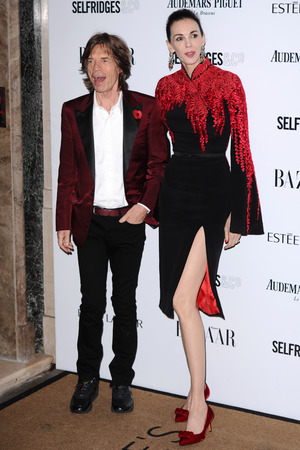 Harpers Bazaar 'Woman of the Year' awards 2013, London, Britain - 05 Nov 2013 Mick Jagger and L'Wren Scott