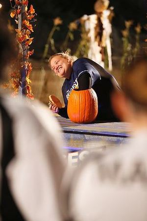 The pumpkin challenge during episode 4 of The Biggest Loser