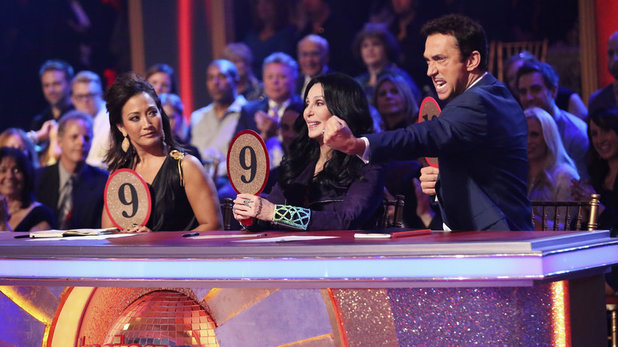 Week 8 of 'Dancing With The Stars' Fall 2013: Carrie Ann Inaba, Cher and Bruno Toniolo