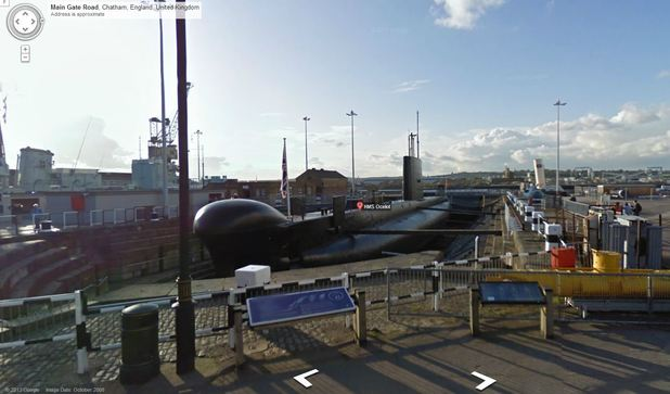 HMS Ocelot is featured on Google Maps