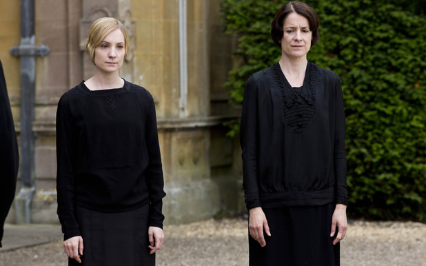 Joanne Froggatt as Anna Bates and Raquel Cassidy as Baxter in Downton Abbey episode 8