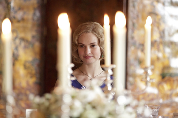 Lily James as Lady Rose in Downton Abbey episode 8