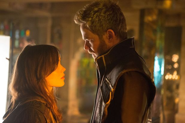 Ellen Page as Kitty Pride and Shawn Ashmore as Bobby Drake in 'X-Men: Days of Future Past'