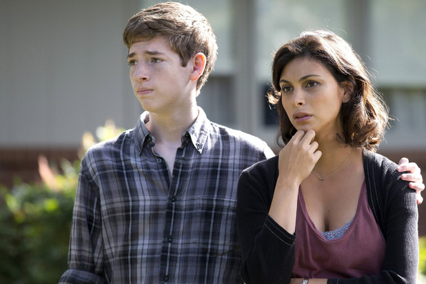 Jackson Pace as Chris Brody and Morena Baccarin as Jessica Brody in Homeland episode 6: 'Still Positive'