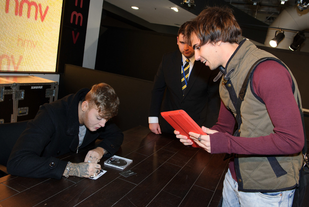 James Arthur at HMV in Oxford Street