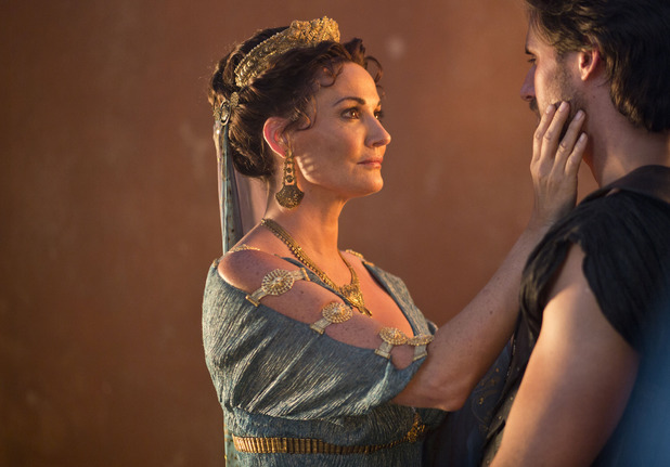Pasiphae (Sarah Parish) and Heptarian (Oliver Walker) in Atlantis episode 7: 'Rules of Engagement'