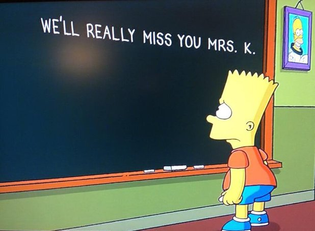 Tribute to Mrs. K on The Simpsons