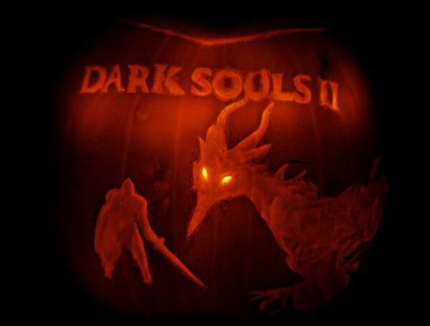 Dark Souls 2 pumpkin art