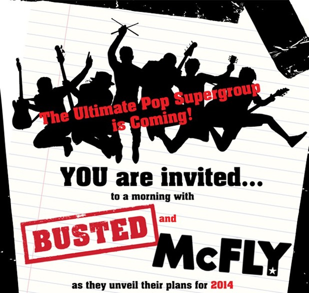 McFly, Busted announcement.