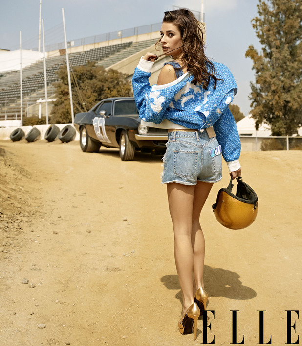 Lea Michele in Elle December issue