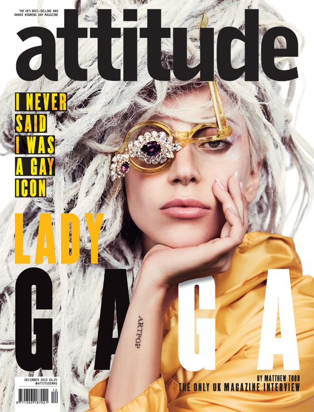 Lady Gaga Attitude magazine cover.