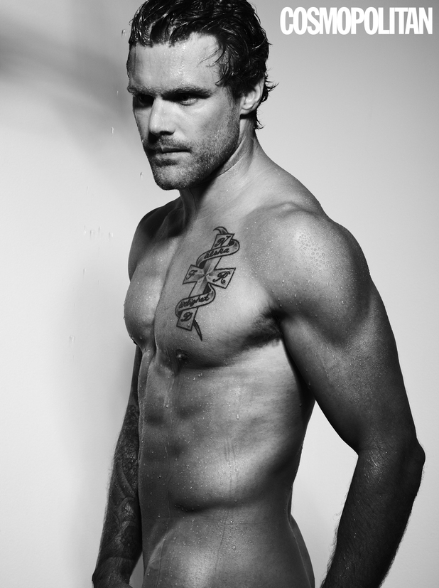 Nick Youngquest poses naked for Cosmopolitan