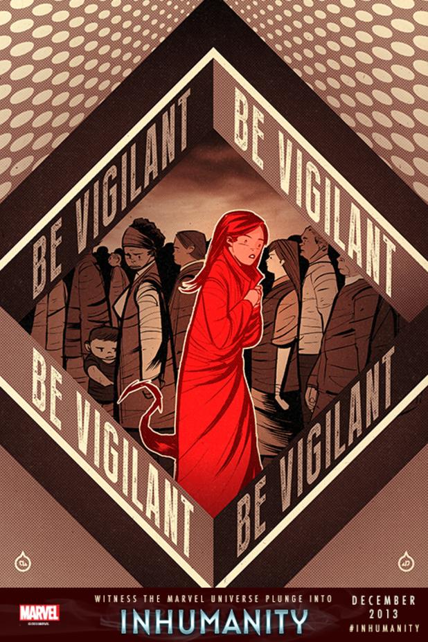 Marvel's 'Inhumanity' propaganda poster