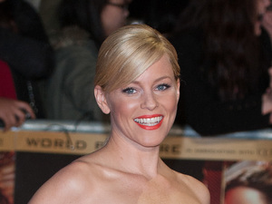 Elizabeth Banks at the World Premiere of The Hunger Games : Catching Fire, at the Odeon Leicester Square, London.