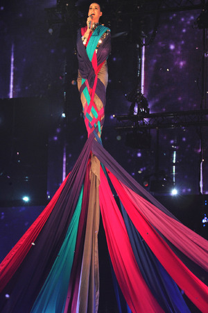 AMSTERDAM, NETHERLANDS - NOVEMBER 10: Katy Perry performs onstage during the MTV EMA's 2013 at the Ziggo Dome on November 10, 2013 in Amsterdam, Netherlands. (Photo by Kevin Mazur/WireImage)