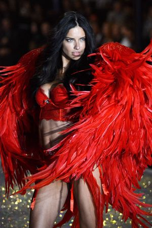 Adriana Lima on the catwalk at the Victoria's Secret Fashion Show