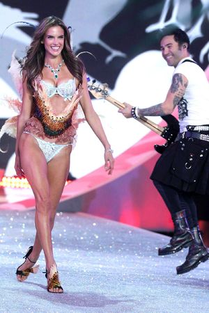Alessandra Ambrosio and Pete Wentz at the Victoria's Secret Fashion Show