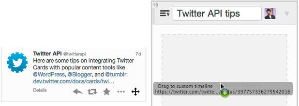 Twitter custom timeline example