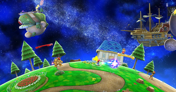 Super Smash Bros. Mario Galaxy stage