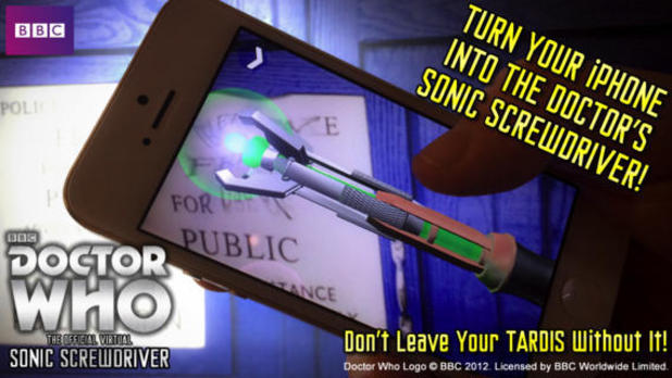 Doctor Who: Sonic Screwdriver app for iOS