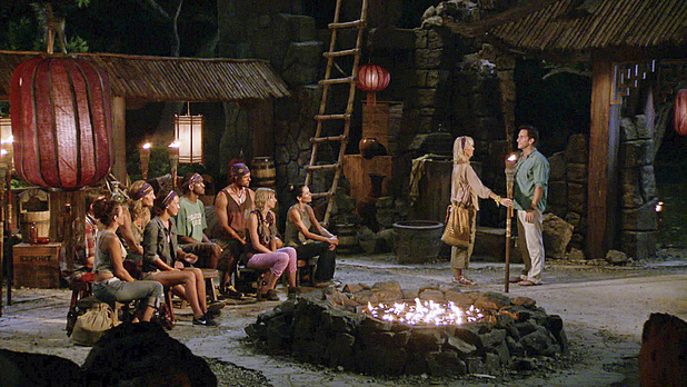 The Kasama Tribe at Tribal Council in 'Survivor: Blood vs Water' - 'My Brother's Keeper'