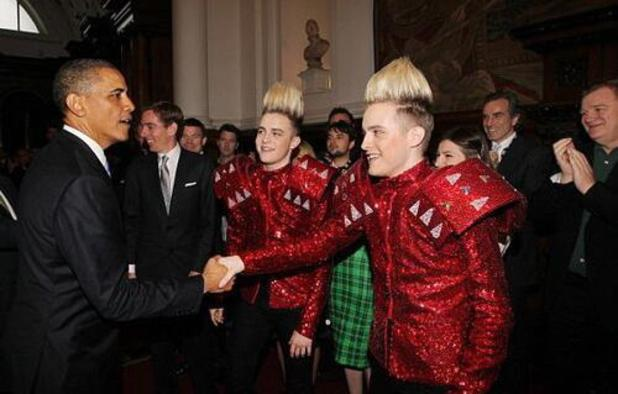 Jedward with Barack Obama