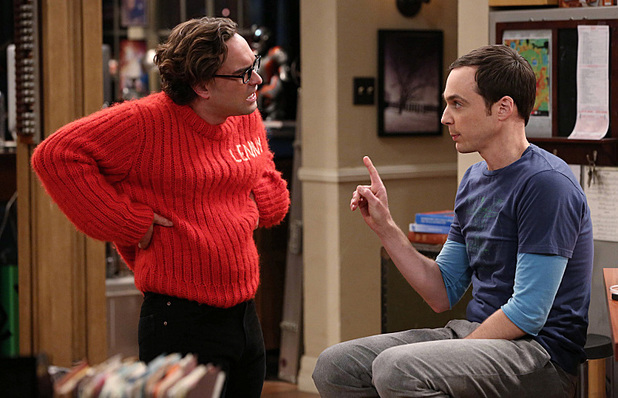 Leonard and Sheldon in The Big Bang Theory: 'The Itchy Brain Simluation'