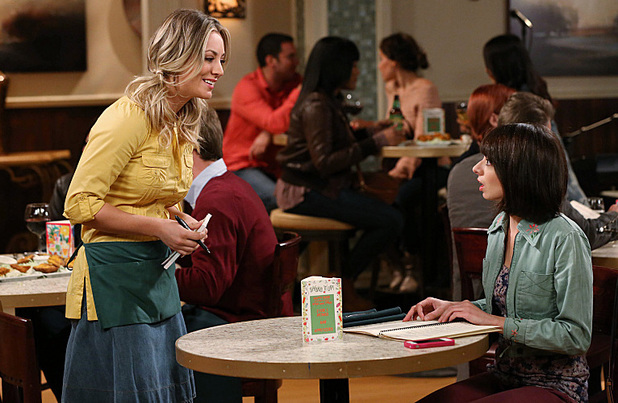 Kaley Cuoco as Penny and Kate Micucci as Lucy in The Big Bang Theory: 'The Itchy Brain Simluation'