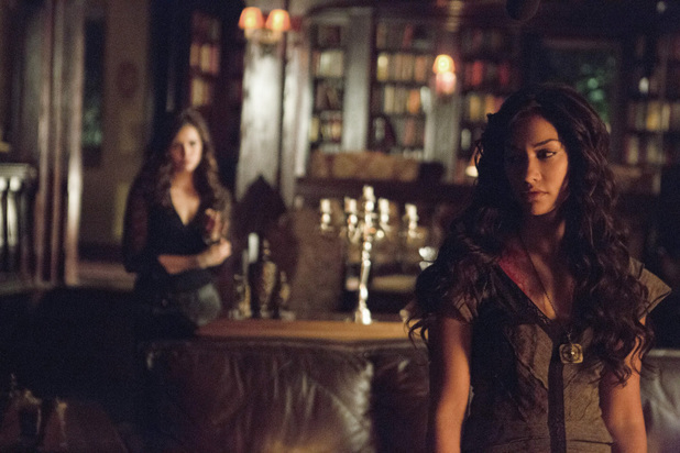 Nina Dobrev as Katherine and Janina Gavankar as Tessa in 'The Vampire Diaries' S05E07: 'Death and the Maiden'