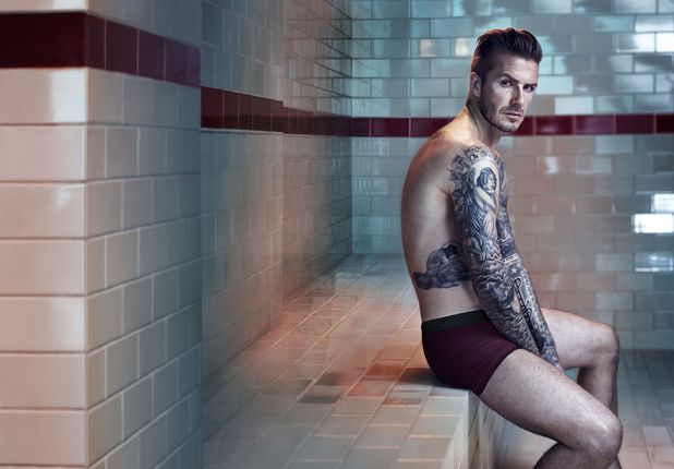 David Beckham Strips Off For