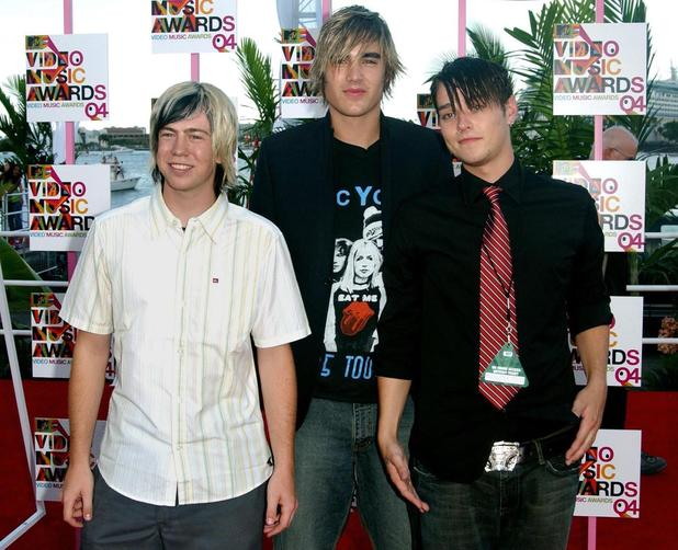 Boy band Busted arrives for the MTV Video Music Awards at the American Airlines Arena in Miami, Florida, United States.