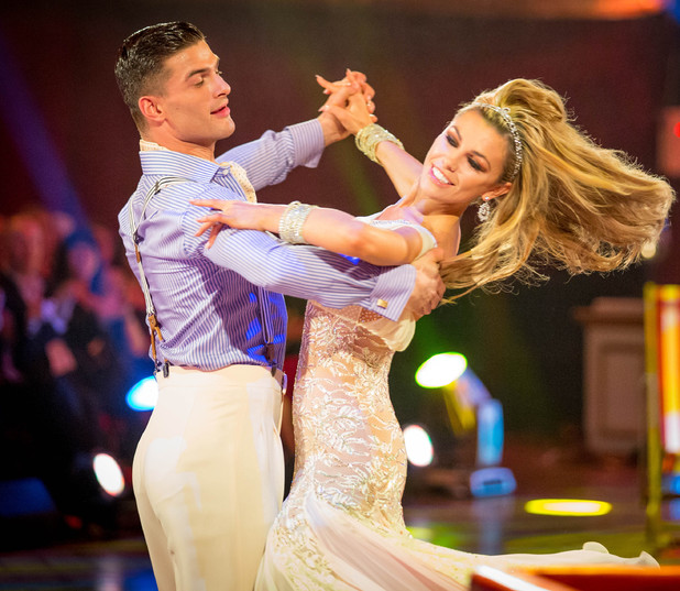 Abbey and Aljaz dance the Quickstep.