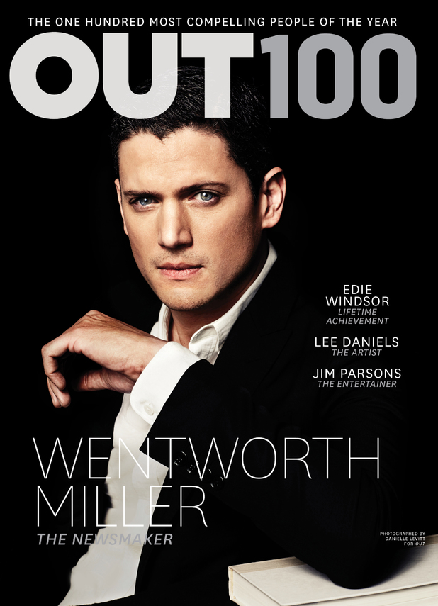 Wentworth Miller on the cover of 'OUT'