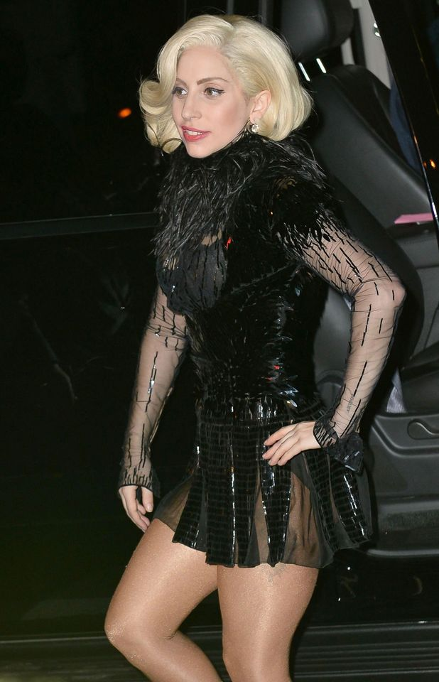Lady Gaga attends the after party of SNL in New York.