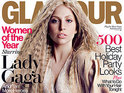 "Lady Gaga thinks she was made to look ""too perfect"" on the front of Glamour."