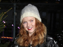 Lily Cole at the VIP launch of the ice skating rink at Somerset House in central London