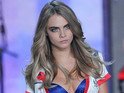 Cara Delevingne on the catwalk at the Victoria's Secret Fashion Show