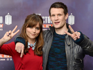 'Dr. Who' 50th anniversary celebrations, London, Britain - 22 Nov 2013 Jenna-Louise Coleman and Matt Smith 22 Nov 2013