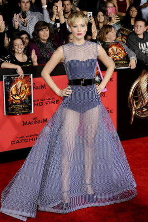 'The Hunger Games: Catching Fire' film premiere, Los Angeles, America - 18 Nov 2013 Jennifer Lawrence 18 Nov 2013